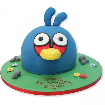 beautiful Bird Design Cake of blue colored bird with some custom text   - Expressluv.in