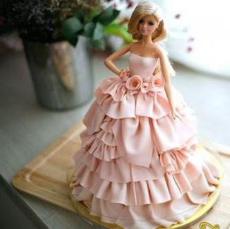 Barbie Doll Cake - Fondant 2kgs