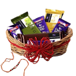 Choco Basket with Rakhi