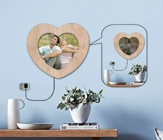 order heart led photo frame, send personalized led online