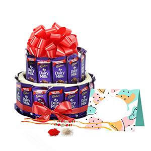 30 Dairy milk Arragement with rakhi
