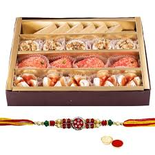 250 Gms. Assorted Sweets and 1 Designer Rakhi with free Roli Tikka - USA - USA