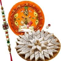 Premium Rakhi with Kaju katli Basket