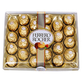 Ferrero Rochar 24 pecies for father's day gifts, mother's day gifts, brother's day gift, birthday gift, anniversary gift.