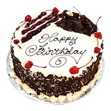 Happy Birthday - Black Forest Delight Cake 500 Grams
