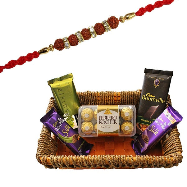 rakhi and sweets online with ferrero rochar and different variety of chocolates online, send rakhi gifts online