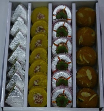 Dry Fruit Bathesa, Kaju Sweet, Moti Choor Laddu, Sandwich 1Kg  - Expressluv.in
