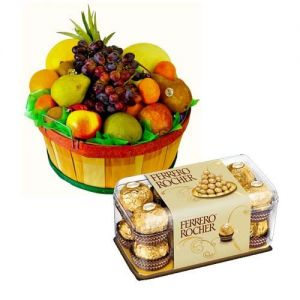 order fruit cakes with ferrero rocher online delivery