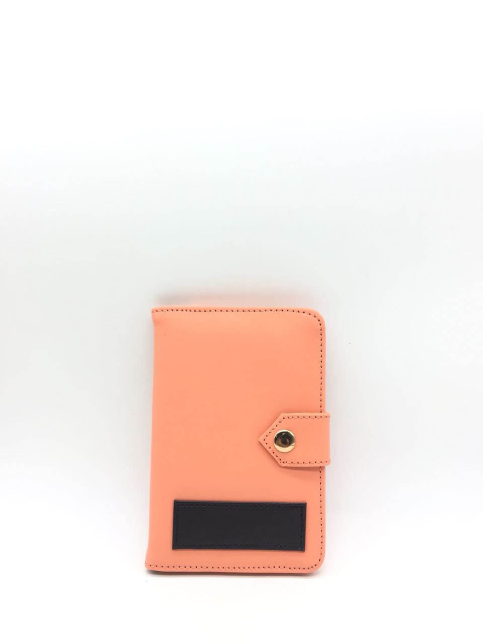 Peach Color Passport Holder