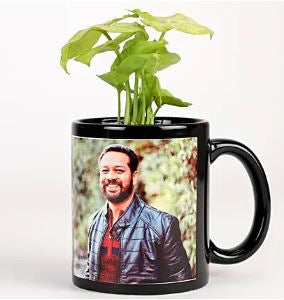 Personalized Mug with Plant