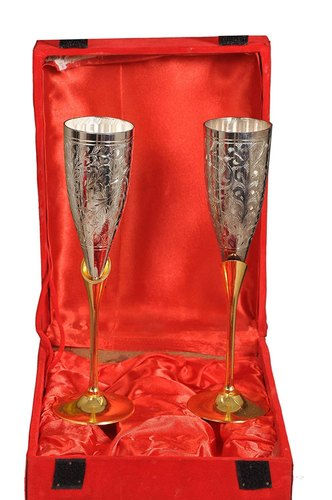 Brass Wine Glass with Gift Box order online- free delivery