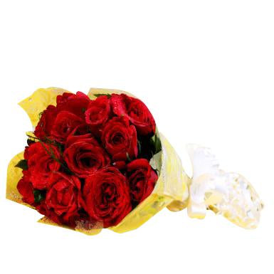 Red Roses 12 Bunch  - Expressluv.in