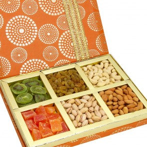 6 variety dry fruit delivery, best dry fruit combo online, perfect diwali combo delivery