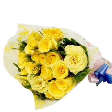 Yellow Roses Bunch - 12  - Expressluv.in