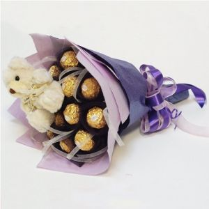 a beautiful ferrero rocher bunch online delivery, ferrero rocher bouquet