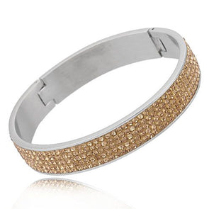 5 Row Austrian Crystal Bangle in Light Colorado Topaz