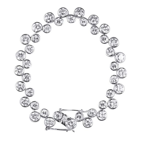 Bezel Set Tennis Bracelet