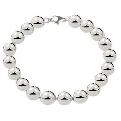 10mm Sterling Silver Ball Bracelet