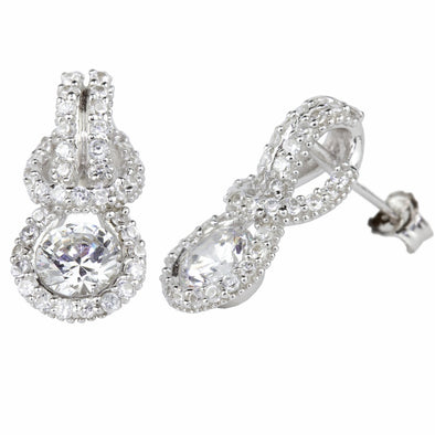 Pavè Eternal Love Knot Earrings