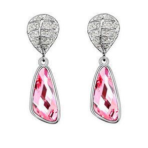 Swarovski Elements Lulu Earrings in Pink