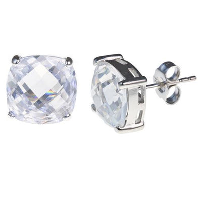 9mm Cushion Cut Stud in CZ
