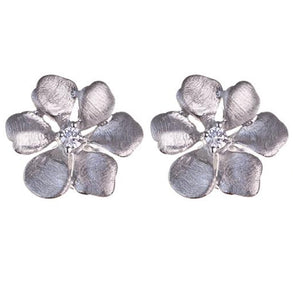 Pacific Sterling Silver Flower Earrings