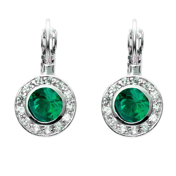 Circlet Leverbacks in Emerald Green