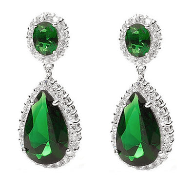 Red Carpet Emerald Green CZ Earrings