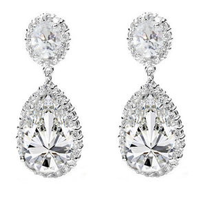 Red Carpet Simulated Diamond CZ Earrings