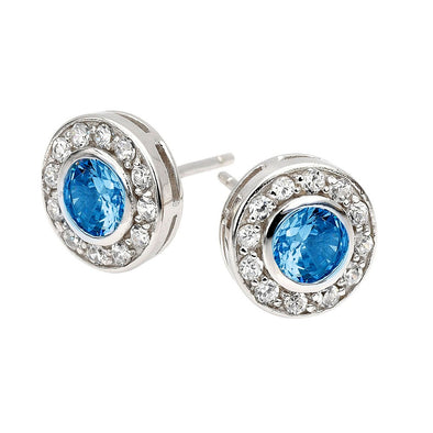 Circlet Studs in Ocean Blue