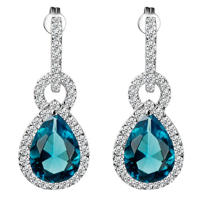 Vienna Earrings in Aquamarine