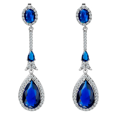 Pontrieux Earrings in Sapphire Blue