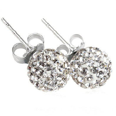 8mm Austrian Crystal Ball Stud Earrings