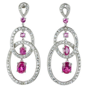 Flaunt It Fuchsia Chandelier Earrings