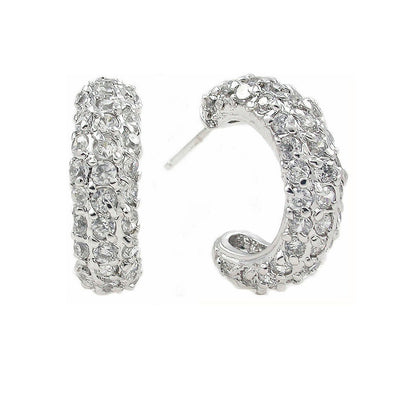 20mm Pavè Hoop Earrings