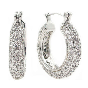 25mm Pavè Hoop Earrings