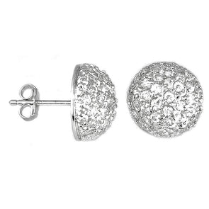 CZ Dome Pavè Earrings