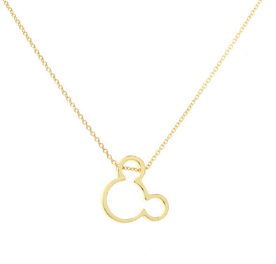 Gold Mickey Mouse Necklace