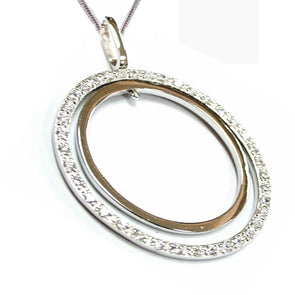 Duo Open Circle Necklace