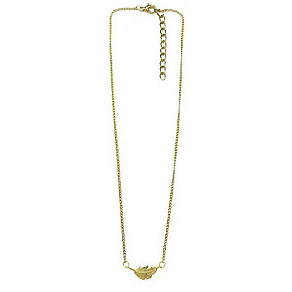 Floating Golden Leaf Necklace