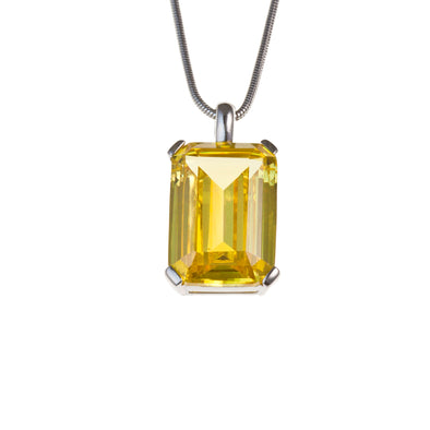 High Society Necklace in Canary Yellow CZ