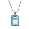 High Society Necklace in Aquamarine Blue CZ