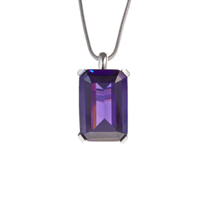 High Society Necklace in Amethyst CZ