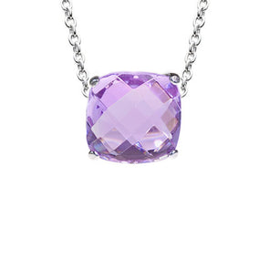 Portofino Cushion Cut Necklace in Lilac