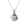2.5 Carat (9mm) Bezel Set Pavè Necklace