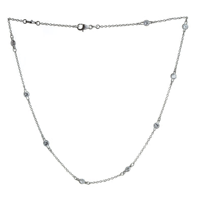 Bezel Set CZs by the Yard Necklace