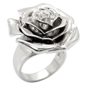 Stainless Steel Flower Ring