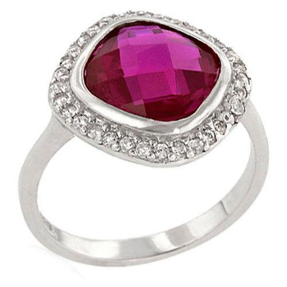 Amirante Faceted Ring in Berry CZ