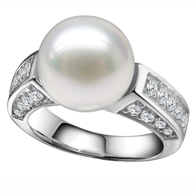 Pacific Pearl and Pavè Ring