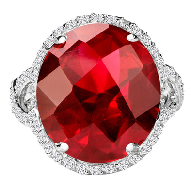 Monaco Ring in Ruby Red